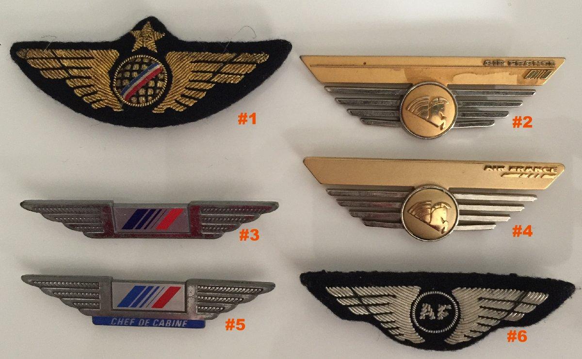 Connu Insignes AIR FRANCE PNC PNT hotesse steward badges TZ78